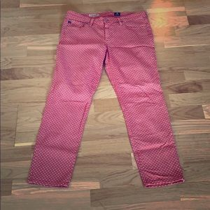 Great condition AG Stevie ankle polka dot jeans 30